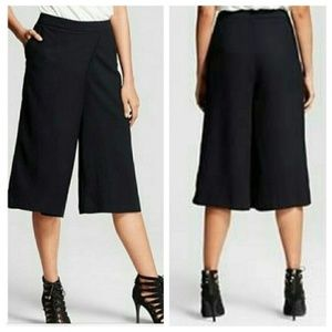 Who What Wear Target Black Gauchos/Culottes